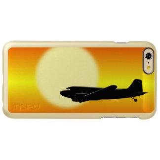 DC-3 passing sun.