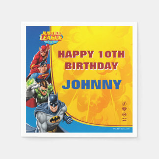 DC Comics | Justice League - Birthday Disposable Napkin