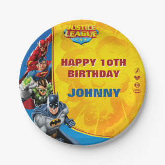 DC Comics | Justice League - Birthday Paper Plate