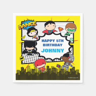 DC Comics | Justice League - Chibi Birthday Paper Napkin