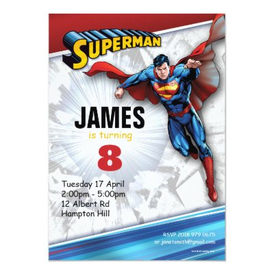 DC Comics | Superman - Kids' Birthday Party Card