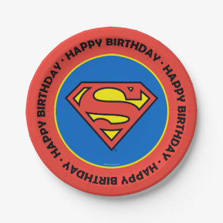 DC Comics | Superman | Classic Logo 7 Inch Paper Plate