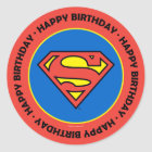 DC Comics | Superman | Classic Logo Classic Round Sticker