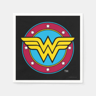 DC Comics | Wonder Woman Circle & Stars Logo Paper Napkin