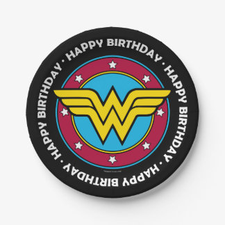 DC Comics | Wonder Woman Circle & Stars Logo Paper Plate