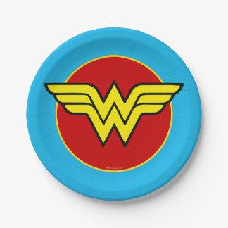 DC Comics | Wonder Woman Logo | Happy Birthday 7 Inch Paper Plate