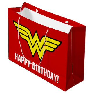 DC Comics | Wonder Woman Logo | Happy Birthday Large Gift Bag