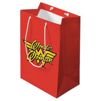 DC Comics | Wonder Woman Logo | Happy Birthday Medium Gift Bag