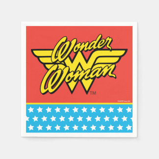 DC Comics | Wonder Woman Logo | Happy Birthday Paper Napkins
