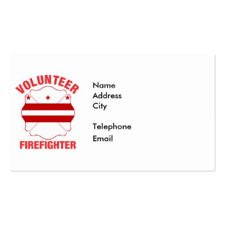DC Flag Volunteer Firefighter Cross Pack Of Standard Business Cards