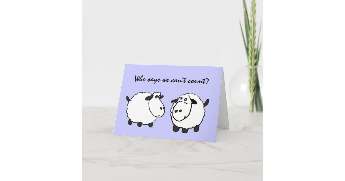 Dc Funny Sheep 50th Birthday Card Zazzle