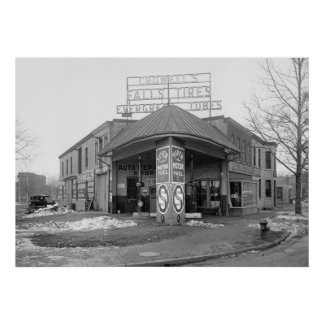 DC Gas Station, 1921 Poster