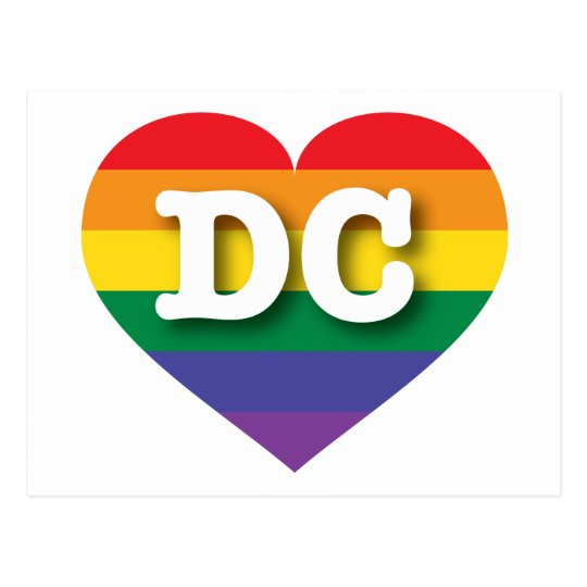 DC Gay Pride Rainbow Heart - Big Love Postcard