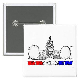 DC Is BROKEN 15 Cm Square Badge