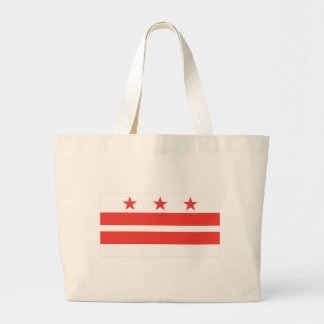 DC  Official State Flag Jumbo Tote Bag