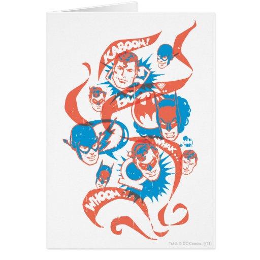 DC Originals - Logo Burst Greeting Cards