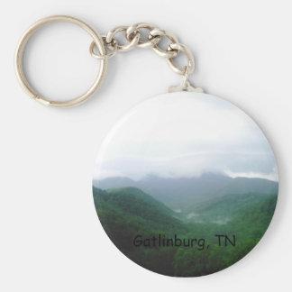 DCFC0075, Gatlinburg, TN Basic Round Button Key Ring