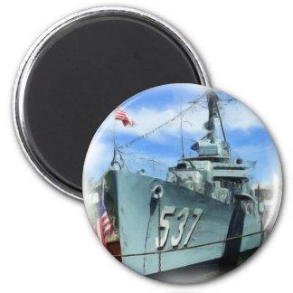 DD-537 USS The Sullivans 6 Cm Round Magnet