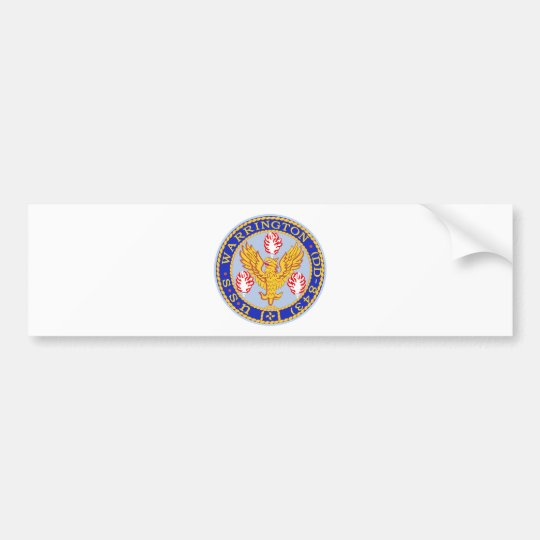 DD-843 USS WARRINGTON Destroyer Ship Military Patc Bumper Sticker