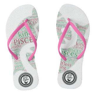 DD Styles Custom Pisces Pink Strap Flip Flops
