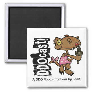 DDOcast Snippiz Mascot Square Magnet