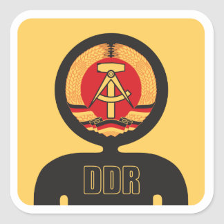 DDR flag avatar Square Sticker