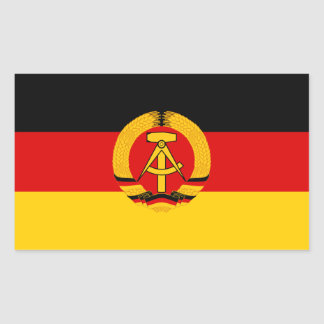 DDR Flag Rectangular Sticker