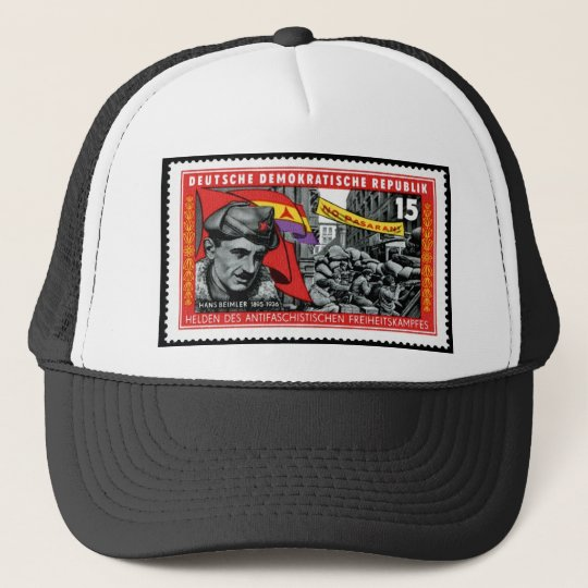 DDR stamp commemorating Hans Beimler Trucker Hat