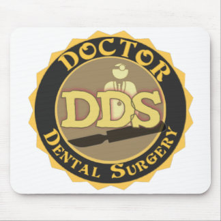 DDS BADGE LOGO DOCTOR OF DENTAL SURGERY MOUSE PADS