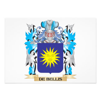 De-Bellis Coat of Arms - Family Crest Custom Invites