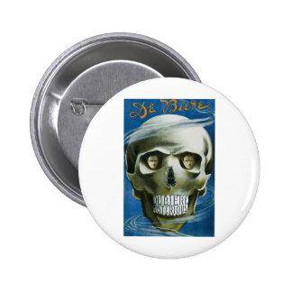 De Biere ~ The Mysterious Magician Vintage Magic 6 Cm Round Badge