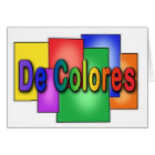 De Colores Stained Glass Palanca Card