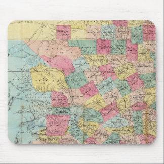 De Cordova's Map of Texas Mouse Mat