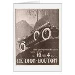 De Dion Bouton Vintage Ad Card