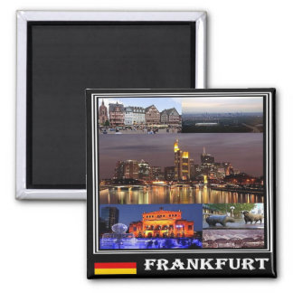 DE - Germany - Frankfurt - Collage Mosaic Square Magnet