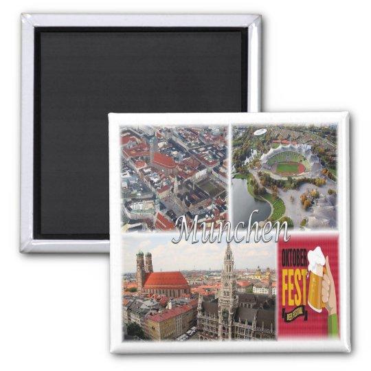 DE * Germany - Munich München Square Magnet