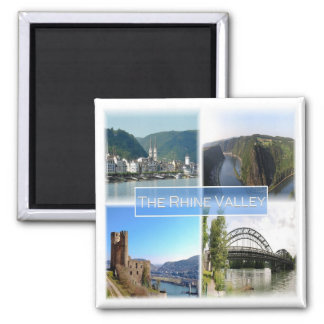 DE * Germany - The Rhine Valley Square Magnet