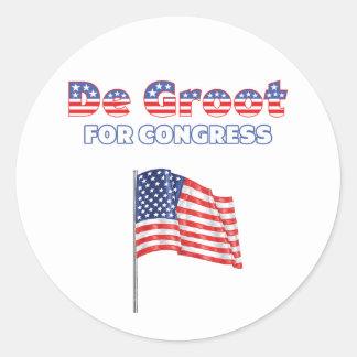 De Groot for Congress Patriotic American Flag Desi Stickers