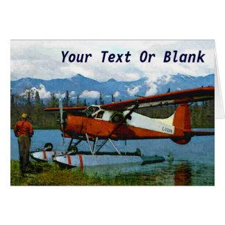 De Havilland Beaver Floatplane Card