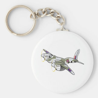 de havilland mosquito basic round button key ring