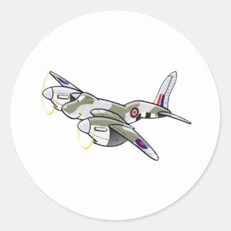 de havilland mosquito classic round sticker