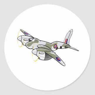 de havilland mosquito round sticker