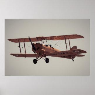 De Havilland Tiger Moth Poster