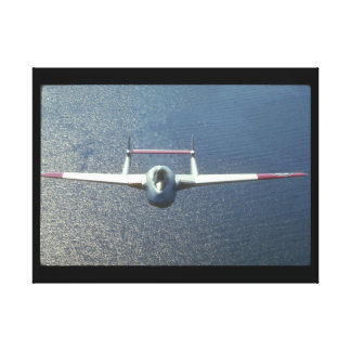 De Havilland Vampire. (water_Military Aircraft Canvas Print