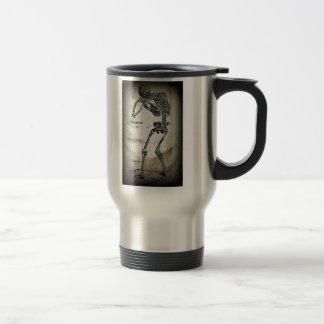 De Humanis Corporis Fabrica (1) VI, by Andreas Ves Travel Mug