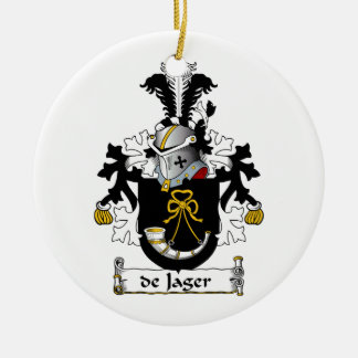 de Jager Family Crest Christmas Tree Ornaments
