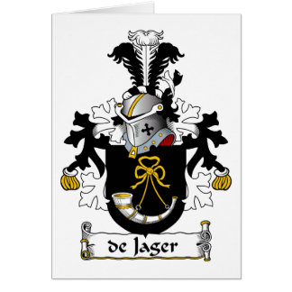 de Jager Family Crest Greeting Card