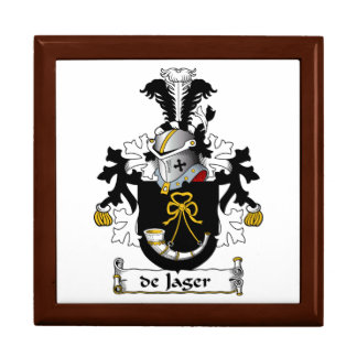 de Jager Family Crest Large Square Gift Box