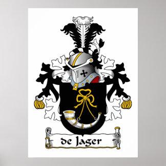 de Jager Family Crest Poster