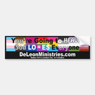 De Leon Ministries All Flags Bumper Sticker